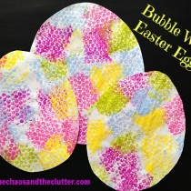 Bubble Wrap Priting: Easter Eggs