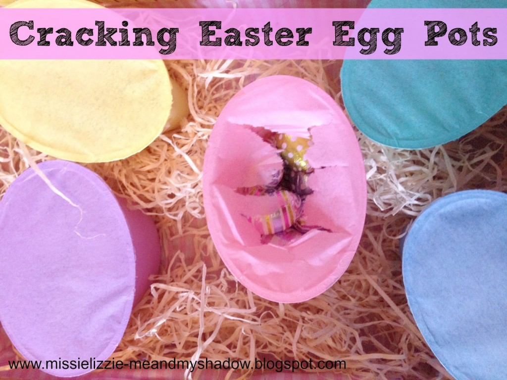 Cracking Easter egg pots