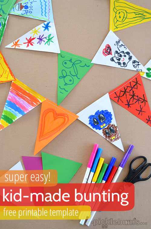 DIY Bunting Craft for Kids