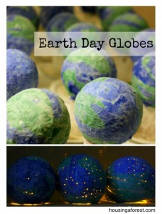 Earth Day Paper Mache Globes