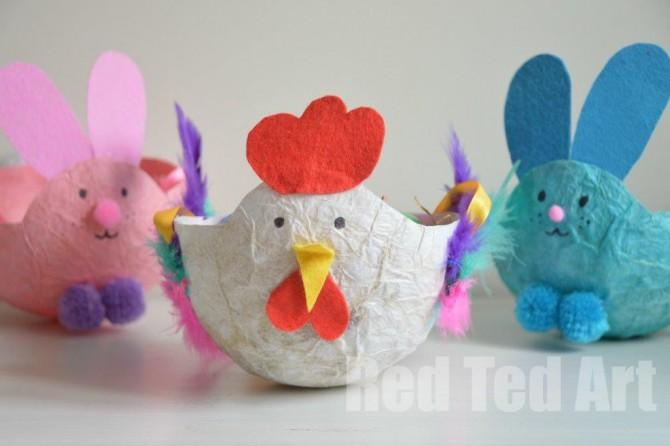 Easter Craft: Easter Baskets for Kids