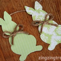 Easter crafts: Bunny Bunting