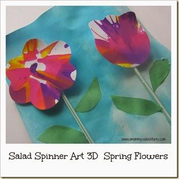 Spin Art Flowers