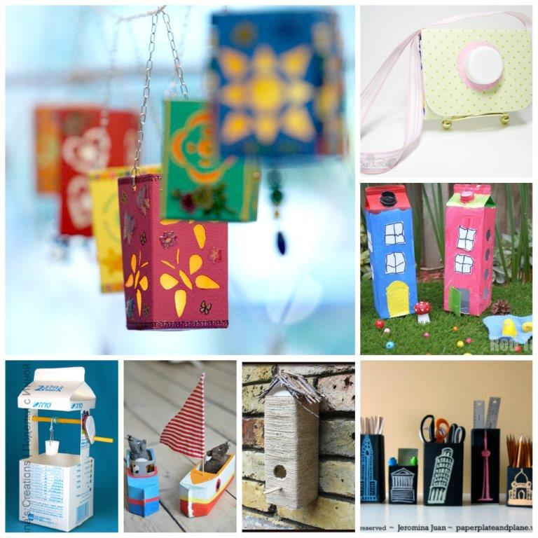 milk carton craft ideas milk crafts well crafts 4940