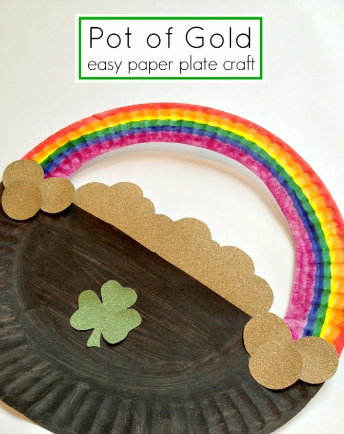 St Patrick S Day Paper Plate Rainbow Fun Crafts Kids