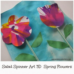 Salad Spinner crafts - 3D flowers