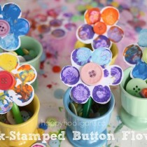 Crafts for Preschoolers: Cork Print Flowers