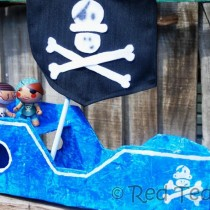 Easy Cardboard Box Pirate Ship