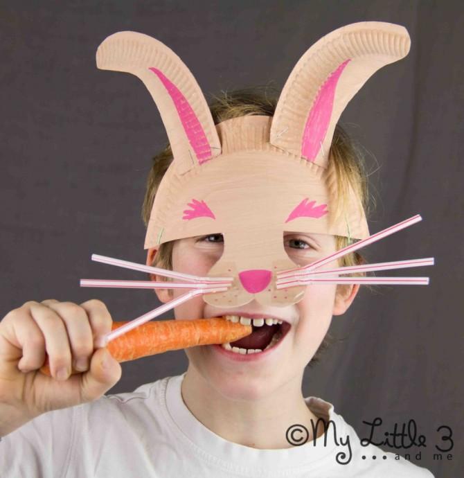 Easter Crafts: DIY Bunny Mask
