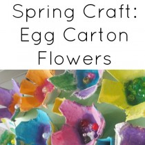 Spring Crafts:  Egg Carton Flowers