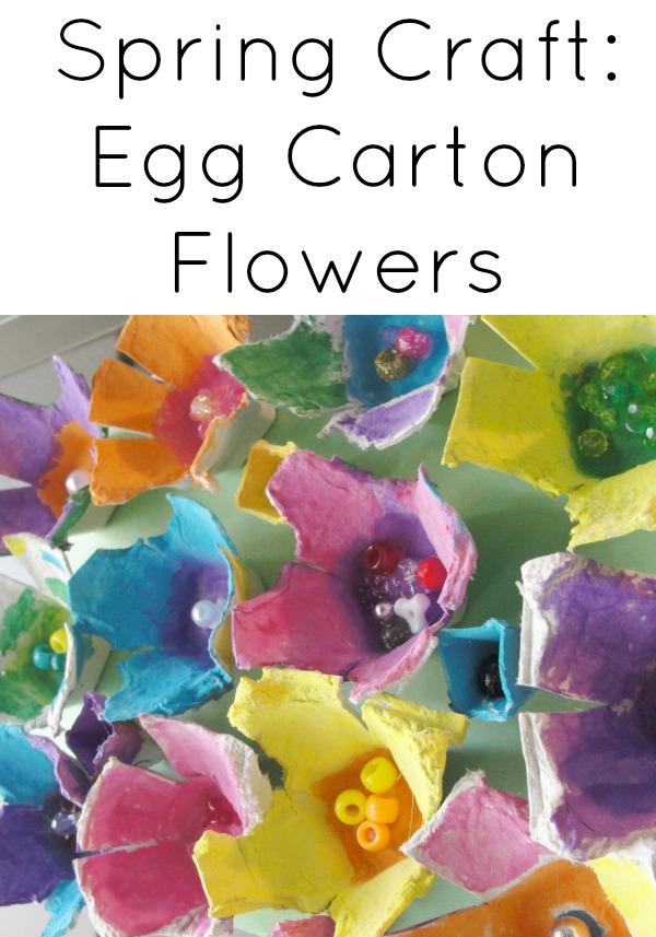 Spring Crafts:  Egg Carton Flowers