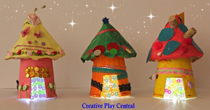 Fairy Crafts: Mini Recycled Houses
