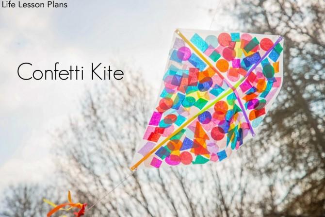 How to make a kite – confetti kite