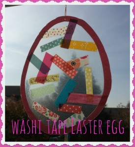 washi tape ideas - easter egg