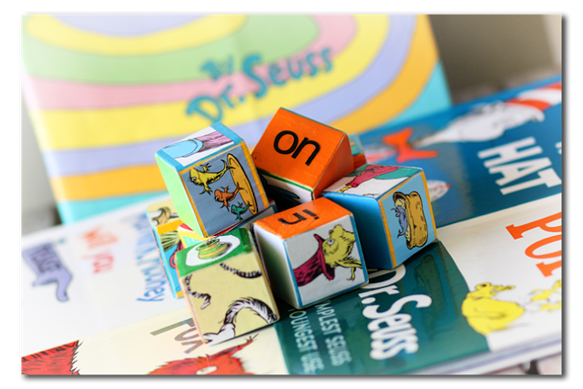 Activity Cubes Dr Seuss