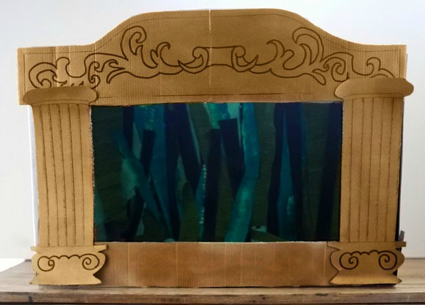 Make Puppet Theatre Out Cardboard Box