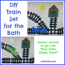 DIY Train Set Foam Bath Toys