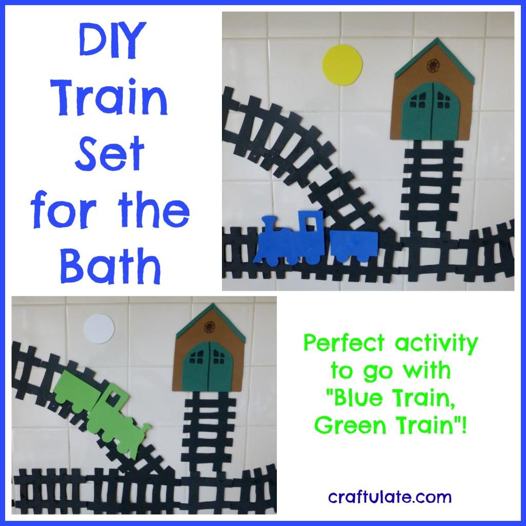 DIY Train Set Foam Bath Toys