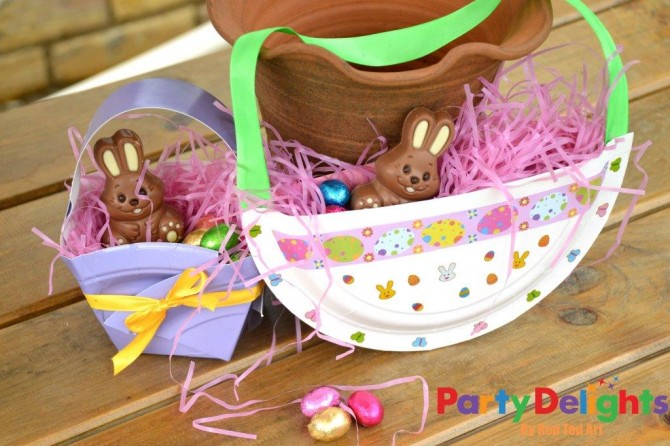 Easter baskets paper plates fun crafts kids easter baskets paper plates negle Choice Image