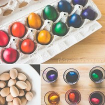How to dye wooden eggs