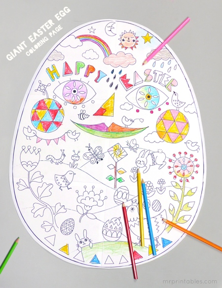 Free Easter Colouring Page