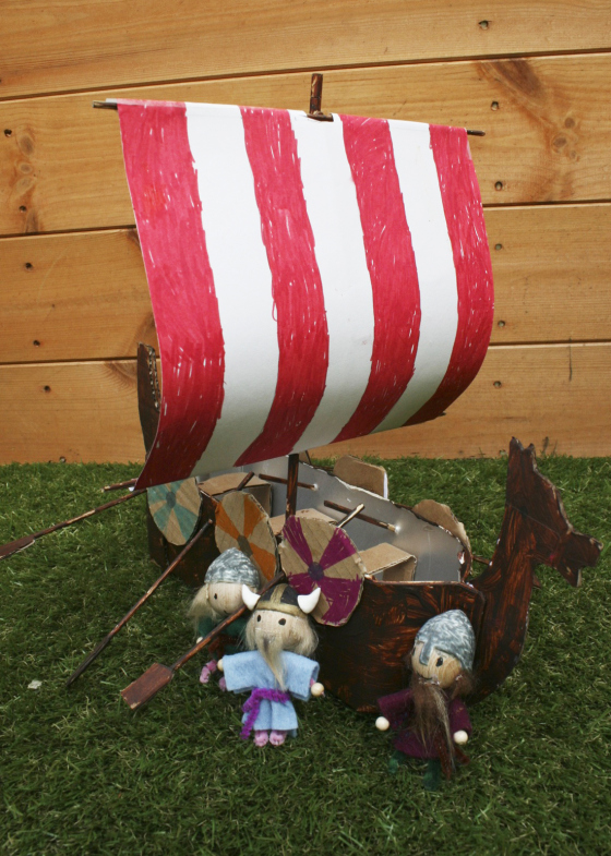 Juice Carton Crafts: Viking Ship