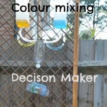 Colour mixing water wall