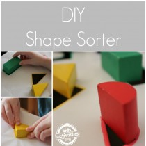 Cardboard Box Crafts: DIY Shape Sorter