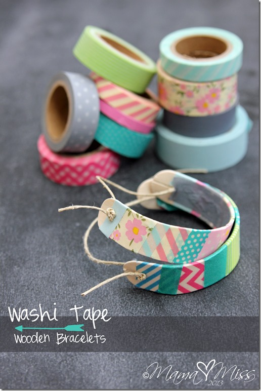 Craft Stick & Washi Tape Bracelets