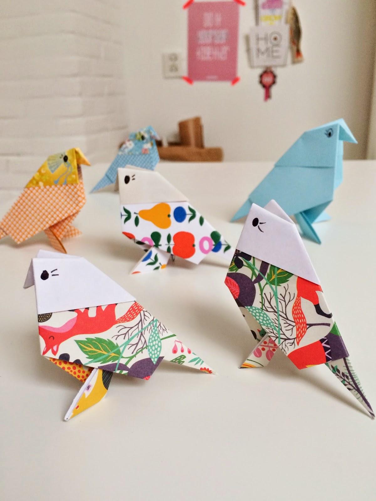Origami birds fun crafts kids jeuxipadfo Image collections