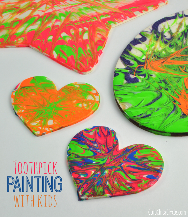 Toothpick painting fun crafts kids for Wood crafts for kids