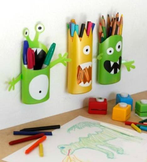 Recycled Crafts - pen holders