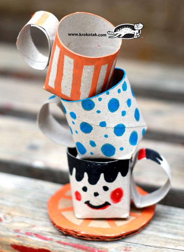 TP Roll Crafts Teacups