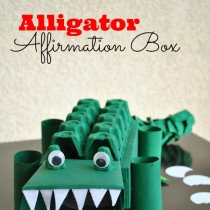 Cardboard Box Crafts: Alligator