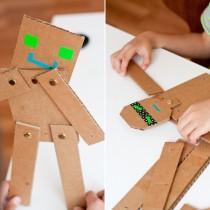 Cardboard Crafts: ROBOTS!