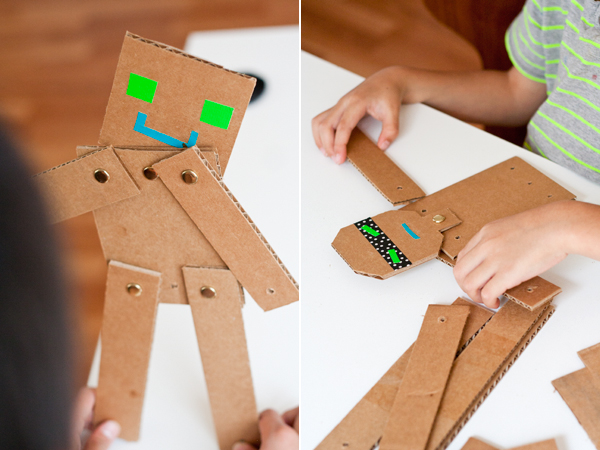 Cardboard Robots Crafts Fun Crafts Kids