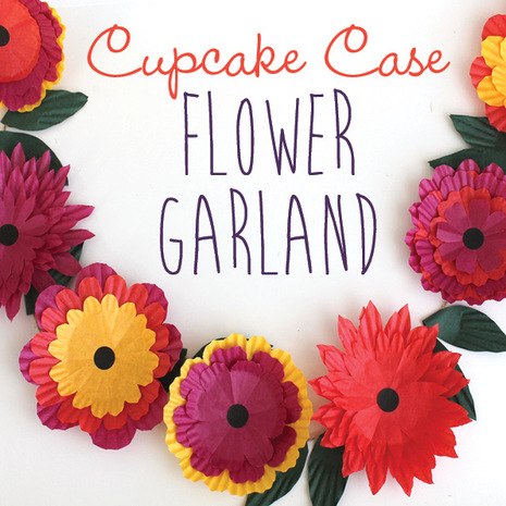 cupcake case flower garland