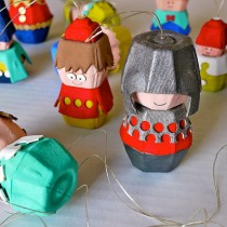 Egg Carton Crafts: People