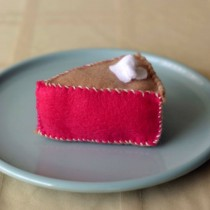 slice of felt pie