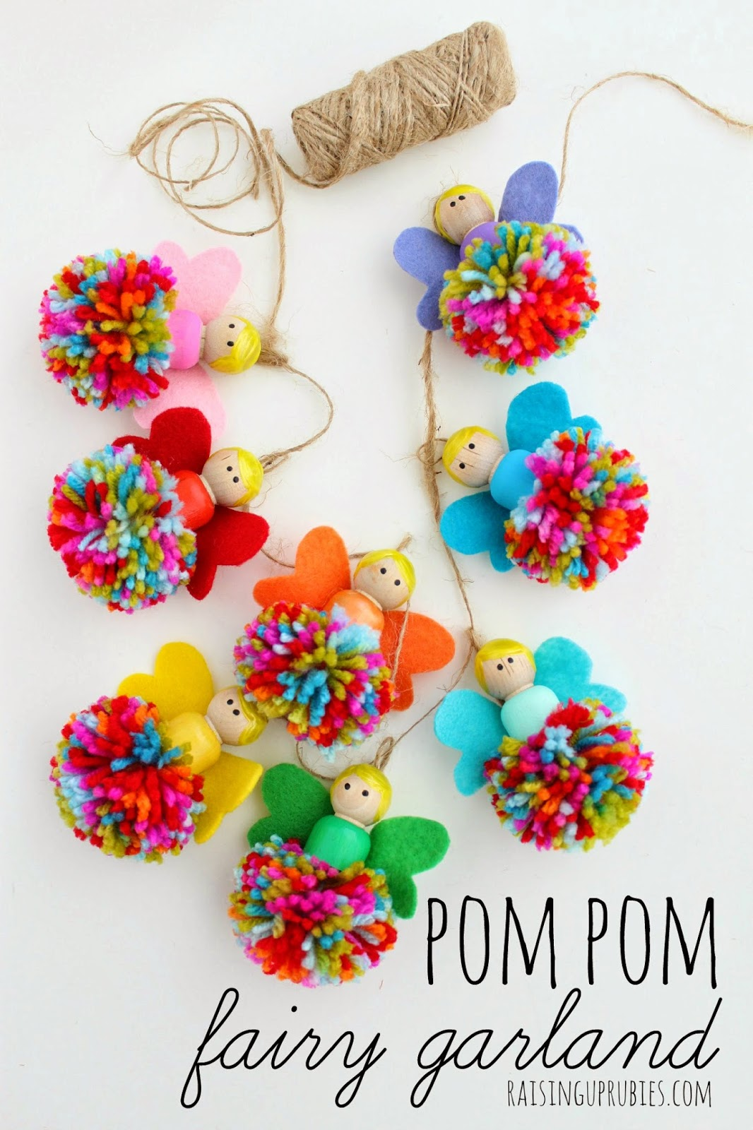 Pom pom fairy garland fun crafts kids for Christmas crafts for older kids