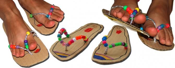 Summer Crafts: Cardboard Flip Flops Sandal
