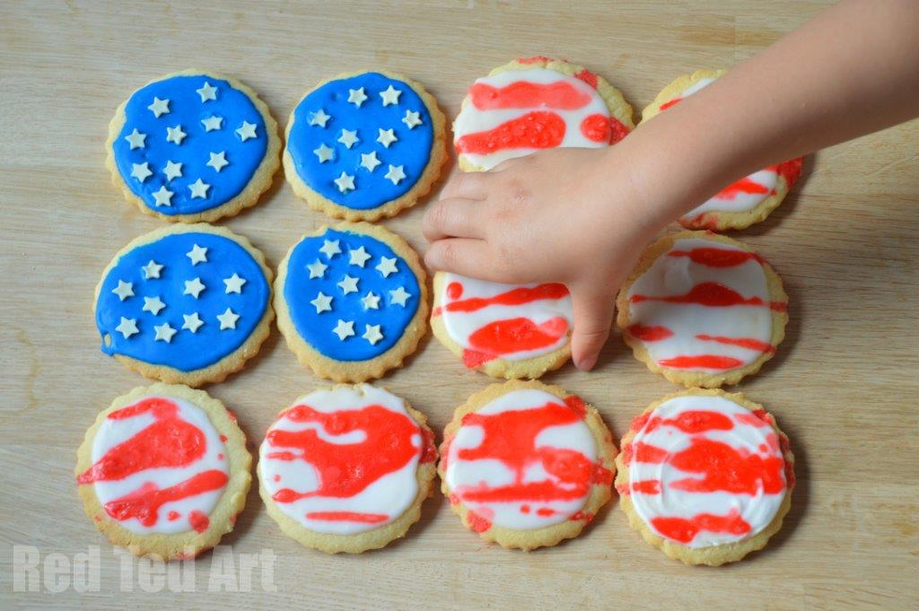 4th July Easy Cookie Decorating