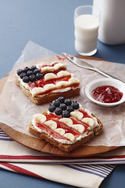 4th july toast breakfast