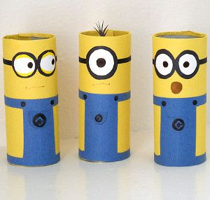 Minion Craft Ideas TP Rolls Fun Crafts Kids