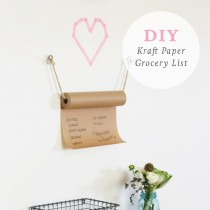 DIY paper roll grocery list