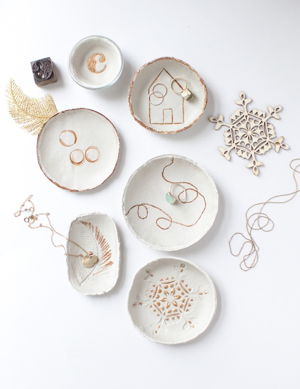Imprinted clay bowls