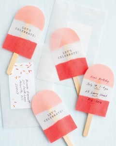 popsicle ice lolly invite