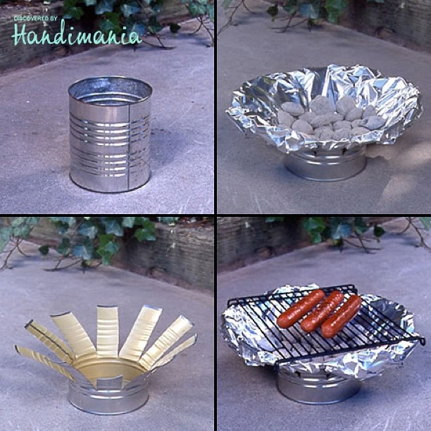 Tin Can Grill – DIY BBQ grill