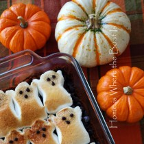 Halloween crafts – ghost brownies