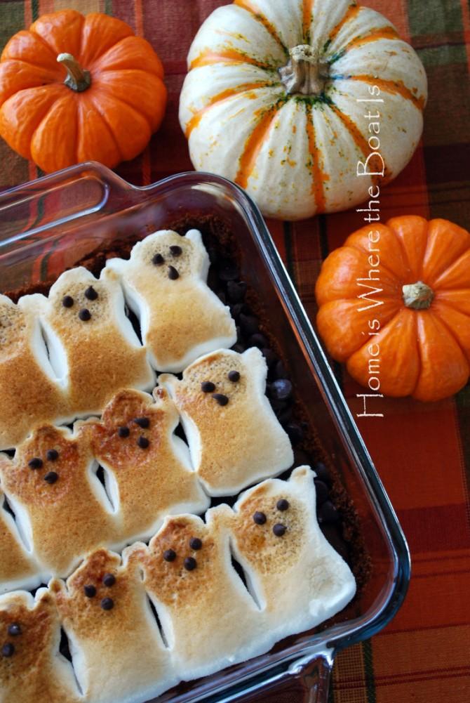 Halloween crafts – ghost brownies